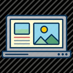 computer, lap top, laptop, macbook, notebook computer, responsive design, screen icon