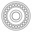 auto, automotive, bearing, car, line, outline, thin icon