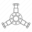 auto, automotive, car, line, outline, round mechanic detail, thin icon