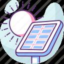 ecology, energy, innovation, panel, solar, technology icon