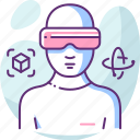 device, innovation, reality, technology, virtual, vr icon