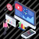 objective, online goal, target web, target webpage, target website icon