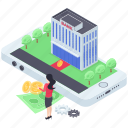 banking app, digital banking, ebanking, mobile app, online banking icon