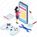 game configuration, game development, game programming, game setting, mobile gaming icon