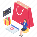 digital shopping, e commerce, internet shopping, online shopping, e shopping icon