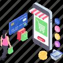 digital shopping, e commerce, e shopping, online shopping, mobile shopping icon