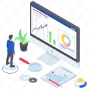 business analysis, data analysis, infographic, market research, statistics icon