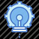 bulb, development, idea, light, technology icon