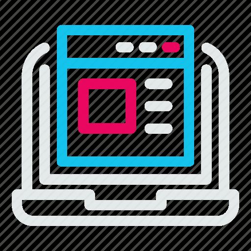 browser, computer, desktop, interface, laptop icon