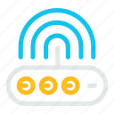 computer, internet, network, router, signal, wifi, wireless icon