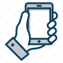 cell phone, cellphone, cellular phone, mobile, smartphone icon