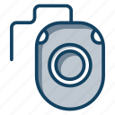 click, computer accessory, computer mouse, hardware, input device, mouse, trackball icon