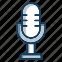 electronic mic, input device, media, mic, microphone, singing mic icon
