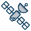 communication satellite, parabolic satellite, satellite dish, space shuttle, space station, spacecraft, spaceship icon