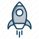 launch, missile, projectile, rocket, rocketship, space shuttle, torpedo icon
