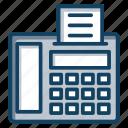 facsimile, fax, fax machine, fax service, telecopying icon