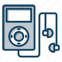 audio music, ipod, music device, music player, portable device icon