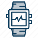 smart band, smart bracelet, smartwatch, watch, wearable tech icon