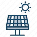photovoltaic cell, solar cell, solar energy, solar panel, solar power, solar system icon