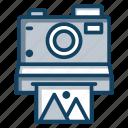 camcorder, instant cam, instant camera, photographic camera, photographic equipment icon