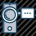 camcorder, camera, handycam, video camera, video recording icon