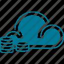 cloud, finance, money, storage icon