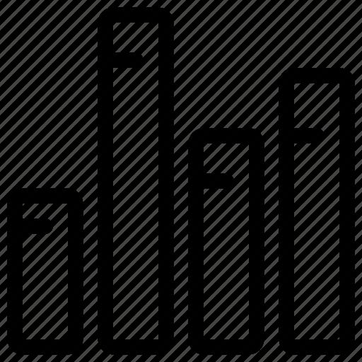 chart, column, data icon
