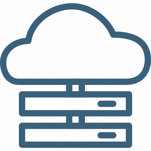 cloud, connection, data, internet, network, online, server icon
