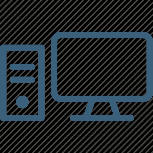 computer, desktop, device, display, hardware, pc, technology icon