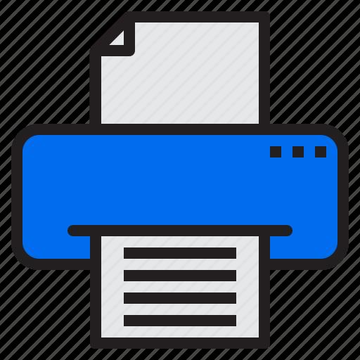 communication, computer, internet, network, printer icon