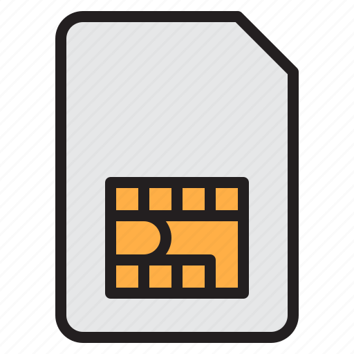 communication, computer, internet, network, simcard icon