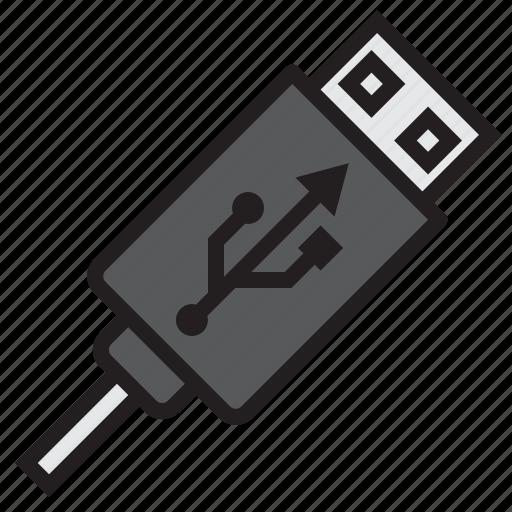 communication, computer, internet, network, usb icon