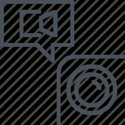 camera, mobile, phone, record icon