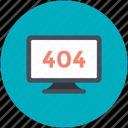 disconnection concept, error 404, monitor screen, server down, warning icon