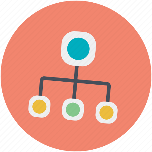 network, network connection, network connectivity, network hierarchy, network topology icon