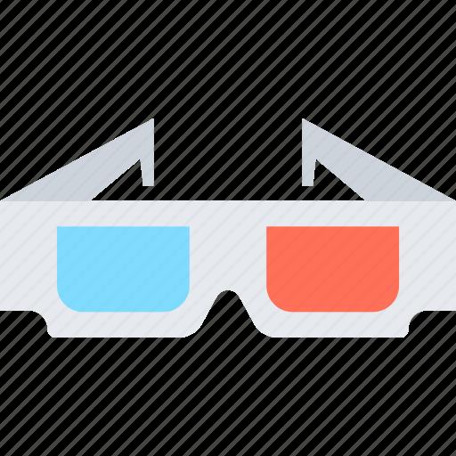 3d, cinema, entertainment, film, glasses, media, movie, stereoscopic icon