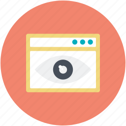 page view, visual design, web visibility, webelement, website eye icon
