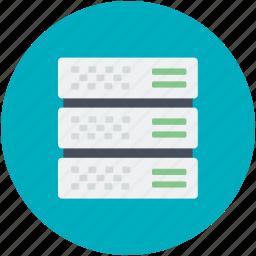 database sharing, information access, server hosting, server rack, shared info icon