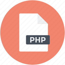 file, file extension, file format, file type, php file icon