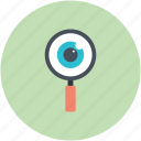 exploration, search, eye, search concept, magnifying glass