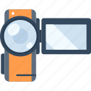 camera, device, film, media, movie, play, video icon