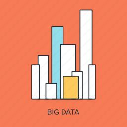 big, business, chart, data, graph, statistics, storage icon