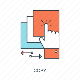 copy, data, document, duplicate, file, hand, share icon