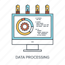 chart, computer, data, development, graph, optimization, processing icon