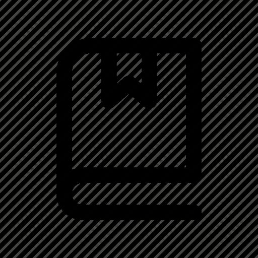 banner, book, bookmark, label, tag icon