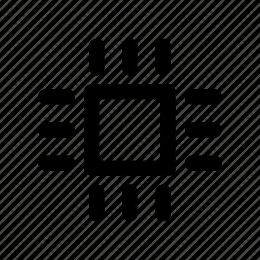 board, chip, computer, hardware, processor icon