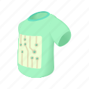 cartoon, electronic, motion, sensors, t-shirt, testing, track icon