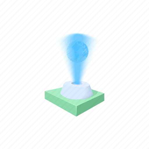 Cartoon, concept, design, holograma, space, technology icon - Download on Iconfinder