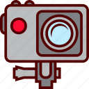 action, camera, extreme, sport, submarine icon