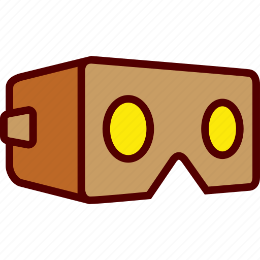 Cardboard, glasses, reality, virtual, vr icon - Download on Iconfinder